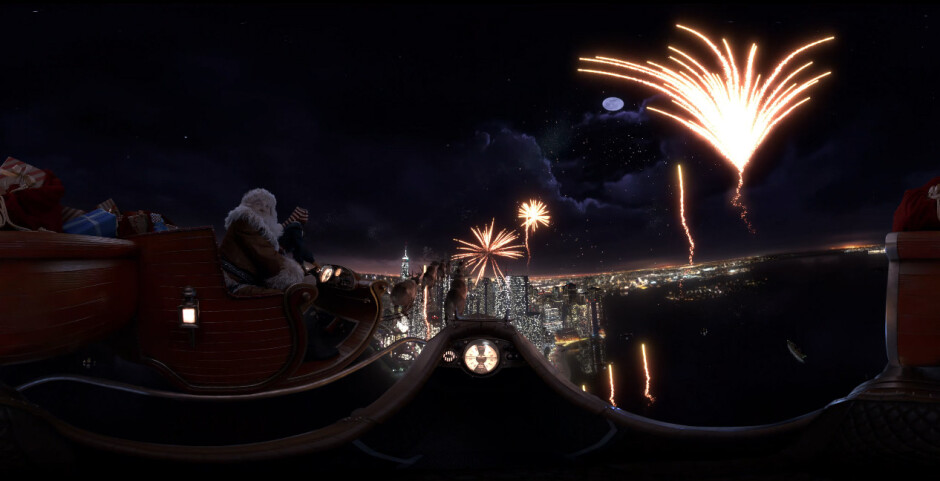 Go on a crazy ride with Santa in Samsung's latest Gear VR experience