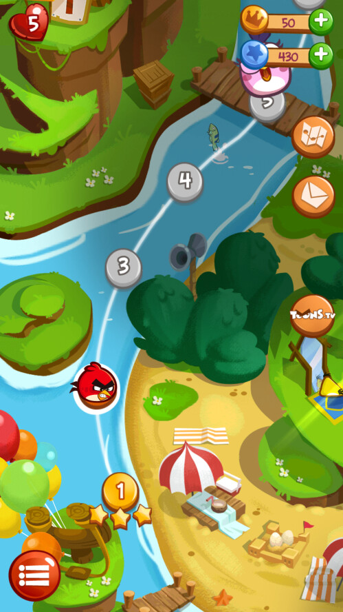 The world map looks like the one from Angry Birds 2