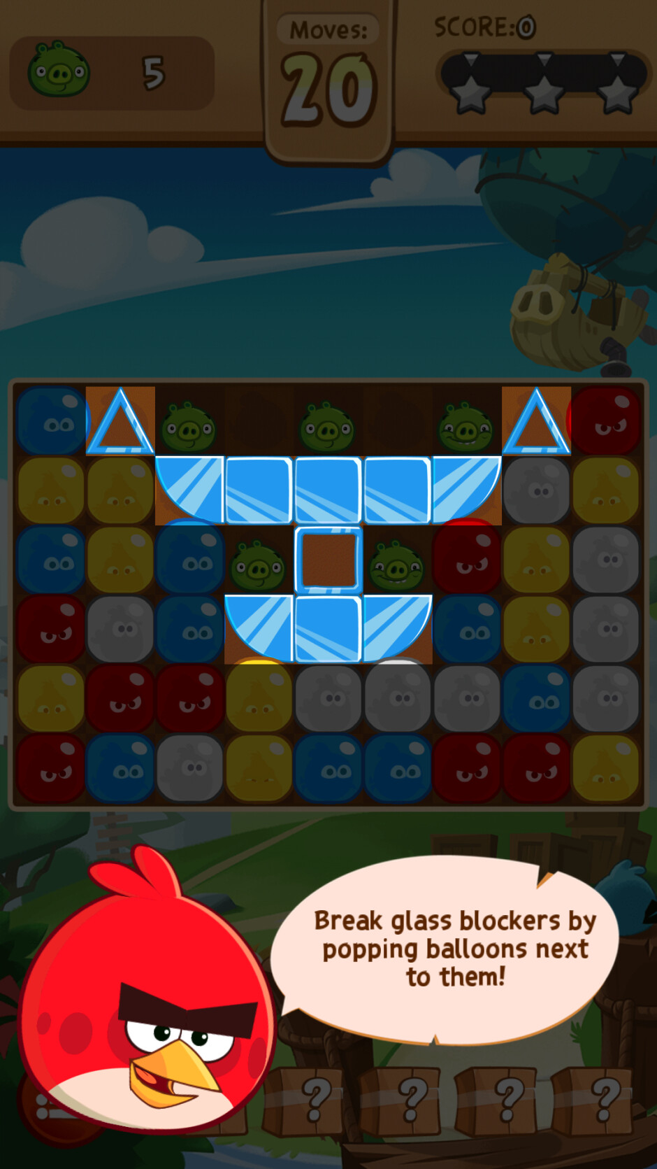 Red will provide you with helpful tutorials along the way. - Angry Birds Blast Review