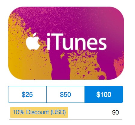 PayPal is offering digital iTunes gift cards with a 10% to 15 ...