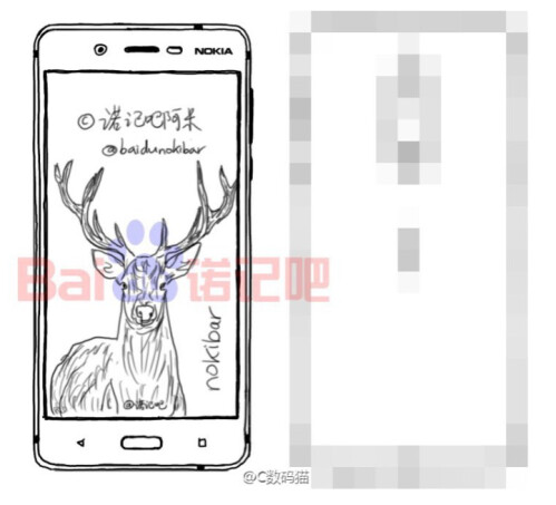 Sketch of the high-end variant reveals a front-facing fingerprint scanner
