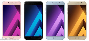 Press renders of the Samsung Galaxy A5 (2017)