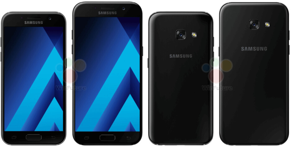 Samsung Galaxy A5 (2017) and Galaxy A3 (2017) press renders leak out
