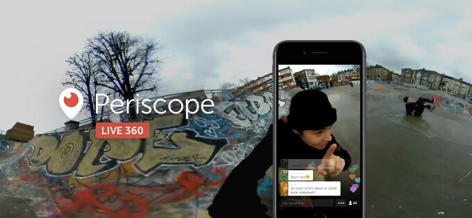 360-degree live videos coming to Periscope soon