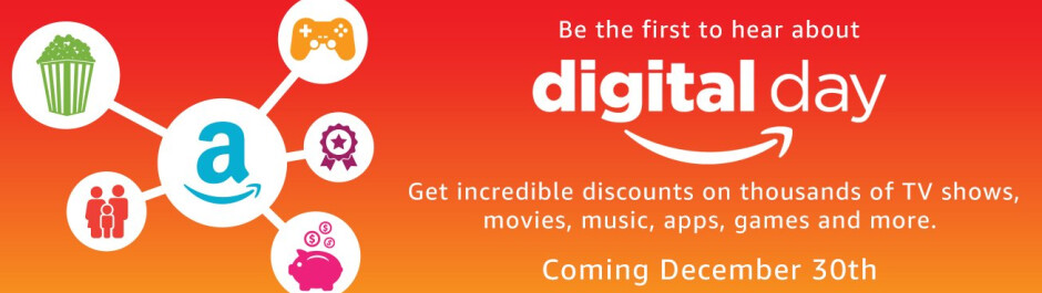 Amazon's Digital Day Sale is this Friday at 3am EST - Amazon's Digital Day Sale is on December 30th; take up to 50% off movies, 80% off video games