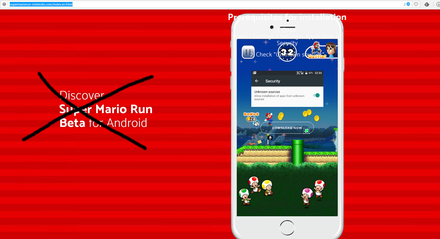 DO NOT download Super Mario Run beta for Android from