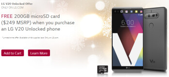 Deal: Unlocked LG V20 now comes with a free 200 GB memory card