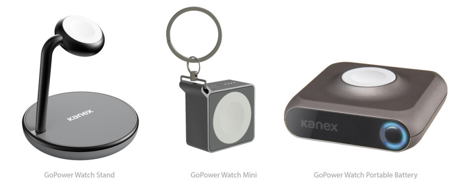 Kanex showcasing portable battery pack and charging stand for the Apple Watch at CES 2017