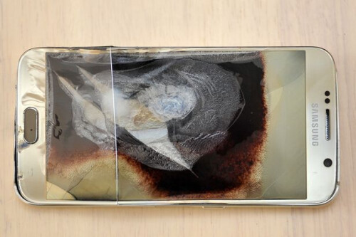 The handset that exploded