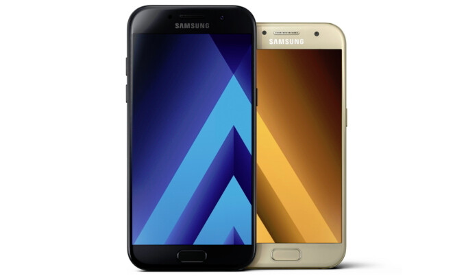 Samsung Galaxy A7 (2017) vs Galaxy A5 (2017) - Samsung Galaxy A (2017) series introduced with water resistance design, Android Marshmallow