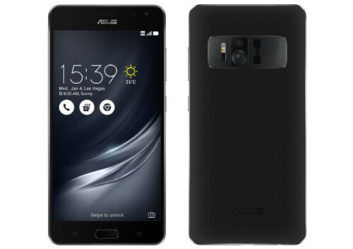 Evan Blass disseminates a tweet showing renders (both front and back) of the Asus ZenFone AR