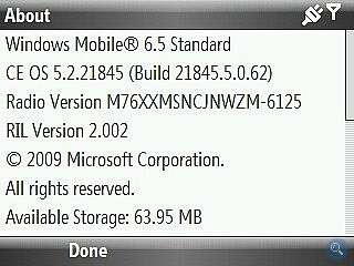 HTC Ozone gets unofficial Windows Mobile 6.5 update