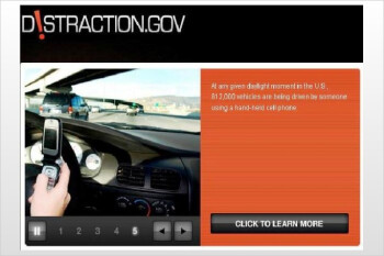 """Distraction.gov"" launched by the US government to promote awareness"