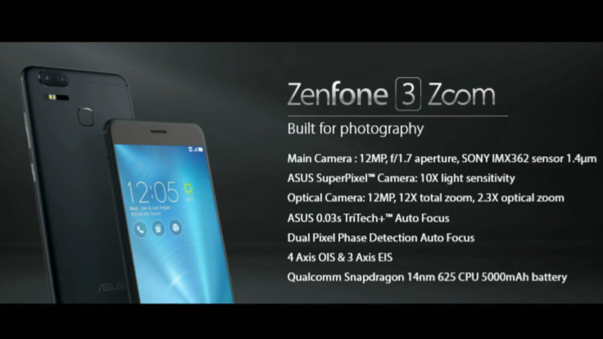 Asus ZenFone 3 Zoom is announced with 2.3X zoom camera and ...