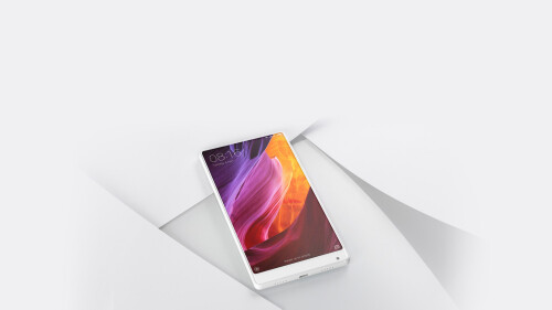 Pearl white Xiaomi Mi Mix gets unveiled on stage at CES 2017, looks delish