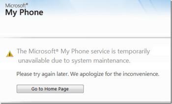 Microsoft's My Phone currently down?