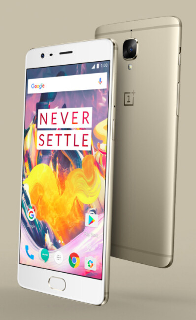 You can now buy the OnePlus 3T in soft gold