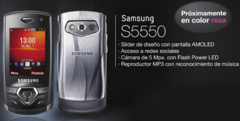 Samsung S5550 discretely turns up - no formal introduction from Samsung