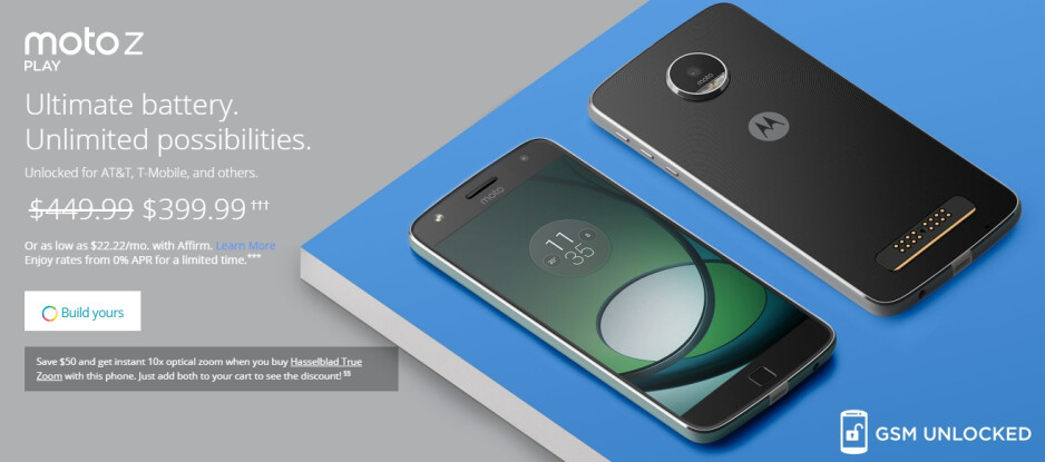 Motorola cuts the price of the Moto Z Play by $50 for a full month
