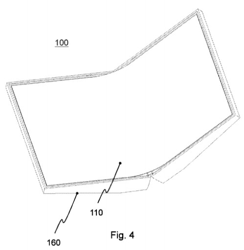 Drawings from Nokia's 'Foldable device' patent
