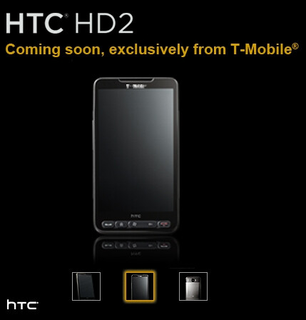 T-Mobile officially getting the HTC HD2