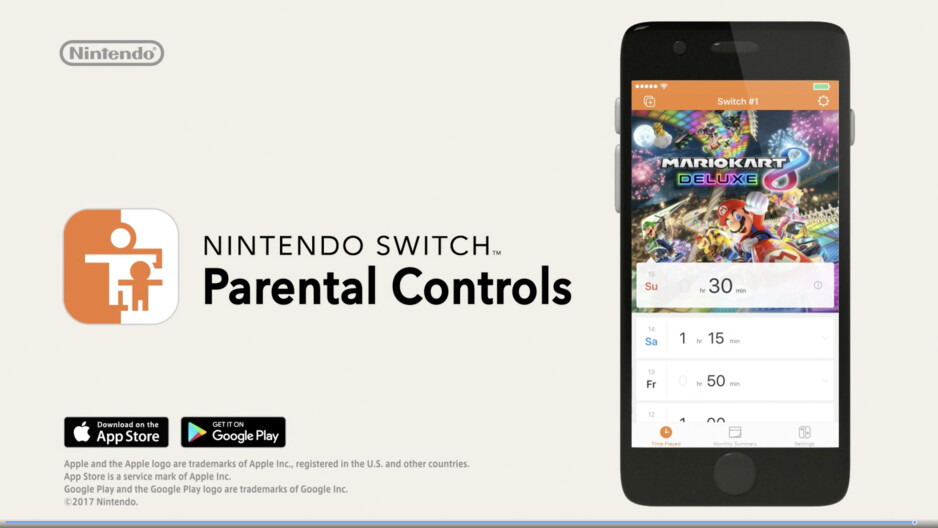 Nintendo's new Switch gaming console will allow for remote parental controls via a smartphone app