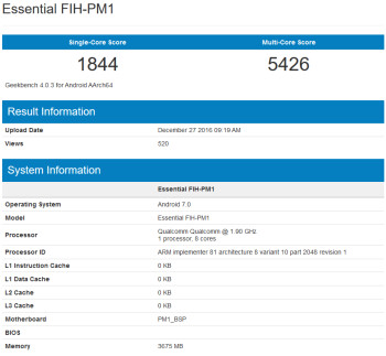 Is this Andy Rubin's new phone on Geekbench?