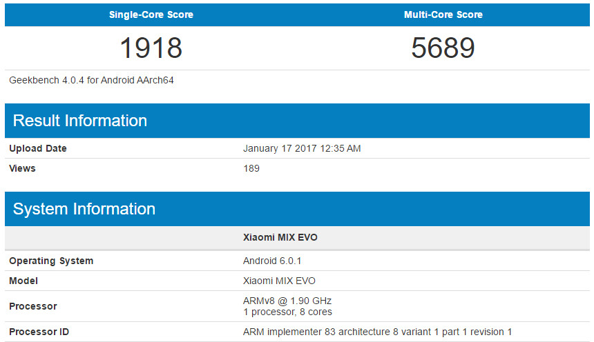 Xiaomi 'MIX EVO' spotted in the wild running Android 6.0.1 - Xiaomi MIX EVO could sport a Snapdragon 835 processor