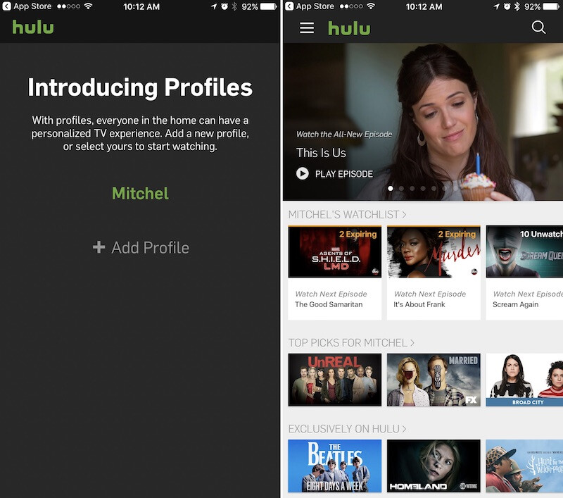 Hulu now lets you add user profiles - Hulu adds new user profiles feature to its iOS app