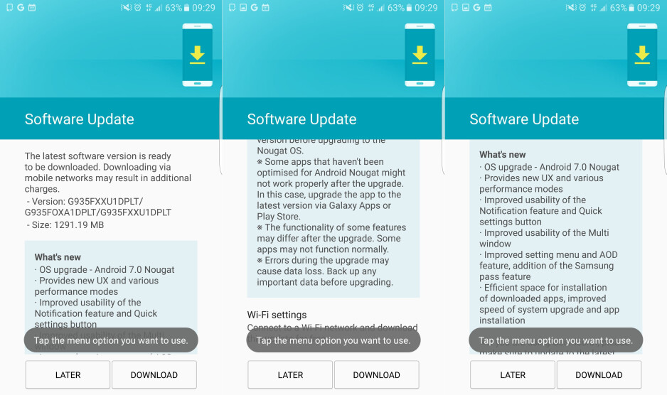 Finally, sweet Nougat on the Galaxy S7 and S7 Edge - Galaxy S7 devices switching to lower resolution after Nougat update, some users report