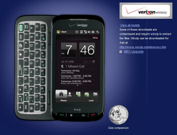 HTC Touch Pro2 and Ozone for Verizon gets WM 6.5 officially