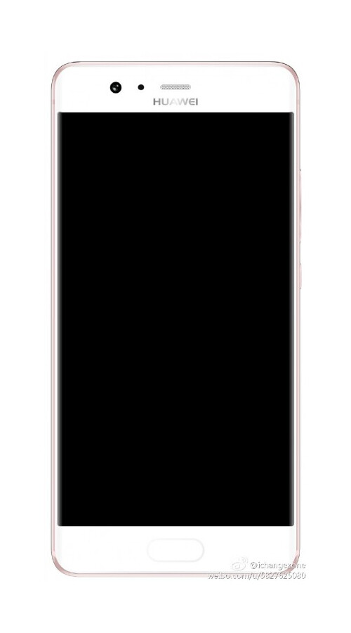 Huawei P10 leckt im Druckguss mit gebogener Anzeige, vorderer Fingerabdrucksensor