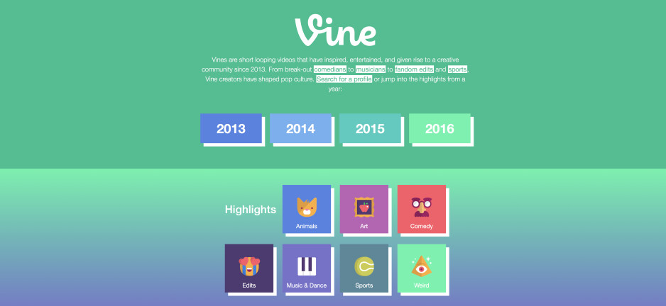 Vine Archive is officially live - a searchable database of all Vines created since 2013