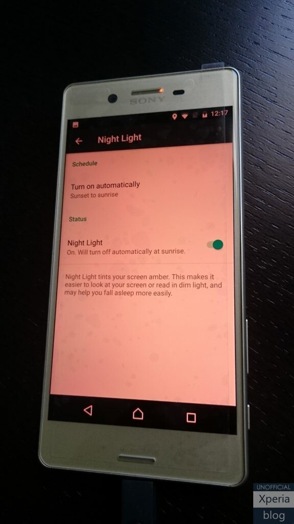 Night Light mode - Sony's latest Xperia X Concept build brings January security update, Night Light mode