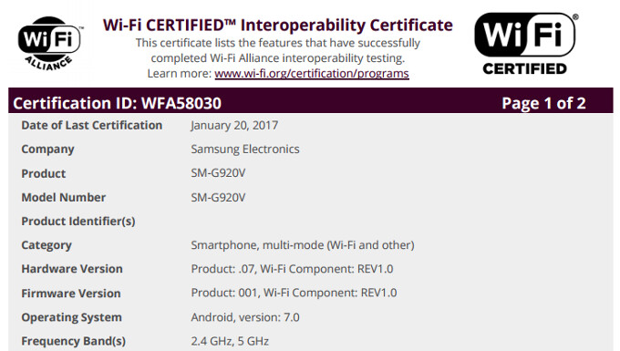 Android 7.0 Nougat for the Samsung Galaxy S6 is well within range.. - Samsung Galaxy S6's Android 7.0 Nougat update certified ahead of roll-out