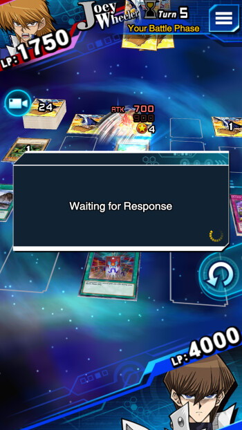 When an opponent quits, you're forced to 'Wait for Response' until you're given the win