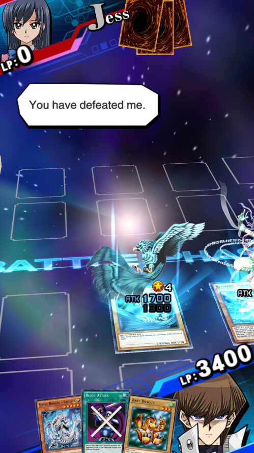 Winning a duel against a regular duelist