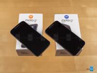 Moto G4 (left) and Moto G4 Plus (right)