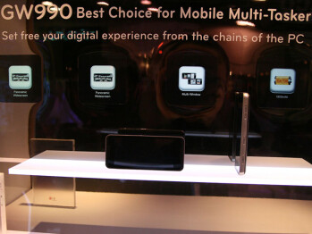 The LG GW990 – based on Moblin and utilizing the Moorestown platform