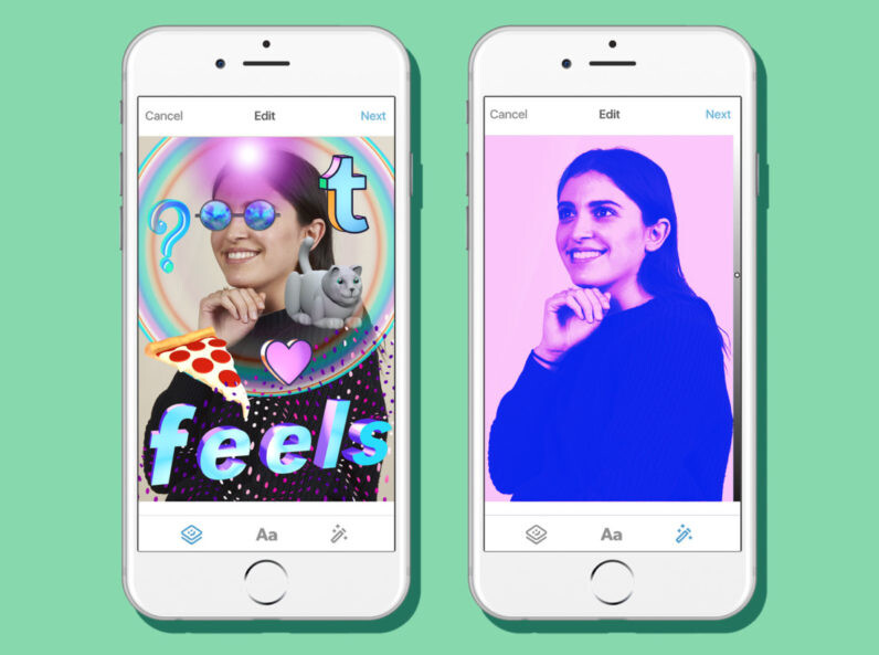 Tumblr adds stickers and filters to its Android and iOS apps