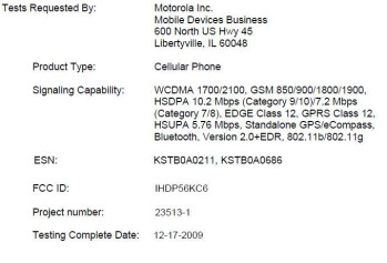 Motorola hits FCC with another AWS 3G phone?