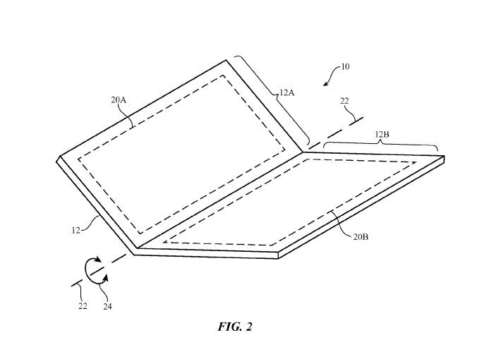 An Apple patent for a foldable or bendable portable device - Japan Display, a company that makes components for the iPhone, just announced a flexible LCD screen