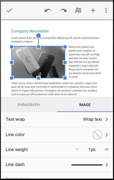 Resize images in Google Docs - Google Docs and Sheets snag several new features with the latest update