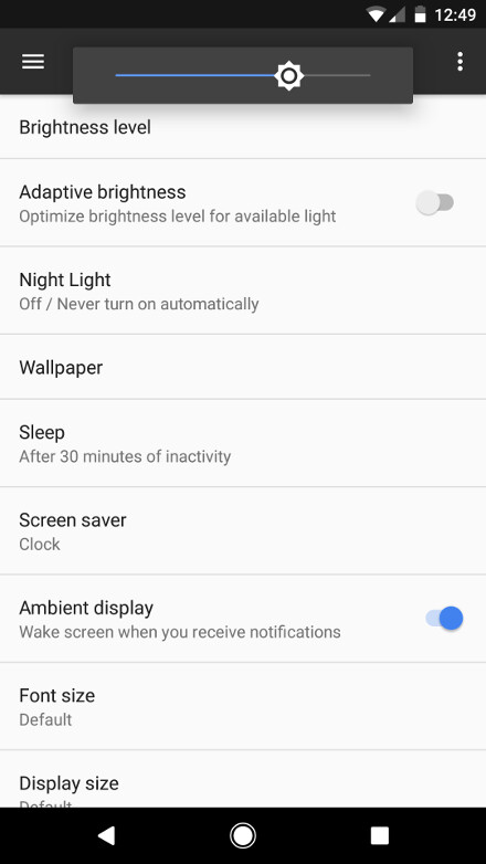 Night Shift mode - Three kew new features in Nougat on the Pixel - Google Pixel XL vs OnePlus 3T