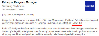 Galaxy S8 name and new AI assistant mentioned in Samsung employee LinkedIn profile