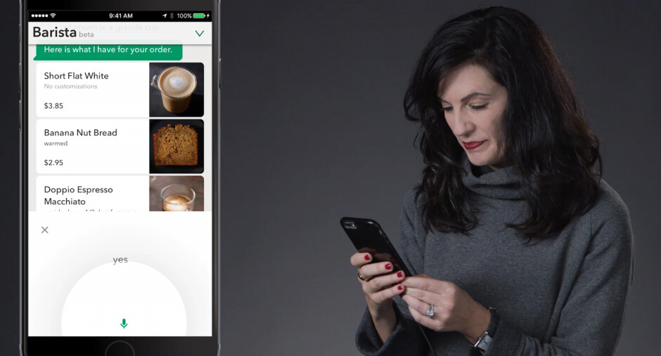 Starbucks announces voice ordering capabilities for its iOS and Android apps