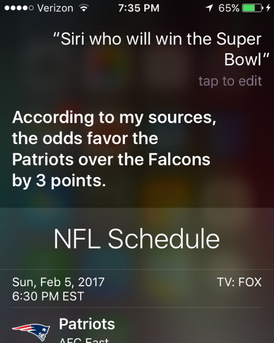 Siri is updated for Super Bowl 51 - Apple updates Siri by adding new Super Bowl commands