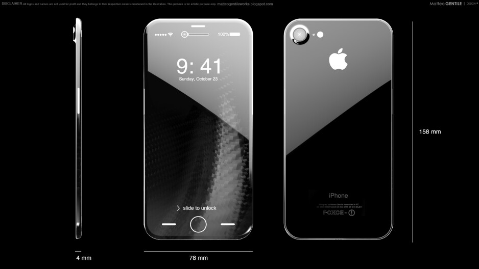 As this OLED iPhone concept image depicts, such a handset may be pretty expensive to make - Apple's iPhone 8 OLED display orders may hit its margins with $50 million this quarter