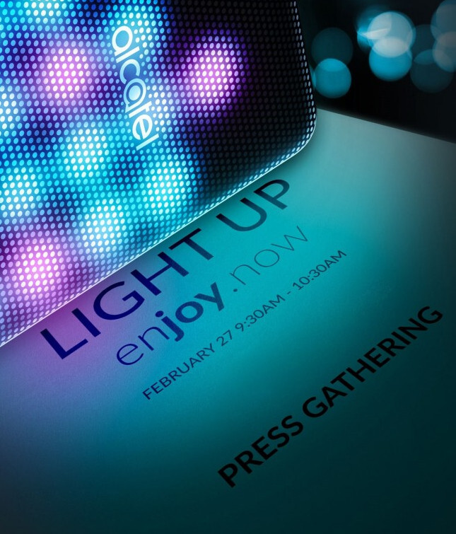 """Alcatel confirms """"Light Up"""" launch event will be held on February 27"""