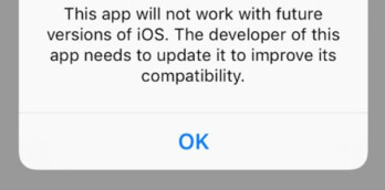 Pop up warnings that started in iOS 10.3 beta 1 could alert developers that they need to update their apps to support 64-bit technology